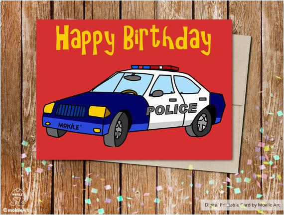 birthday boypolice printable cardprintable birthday