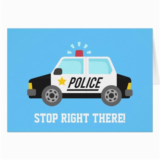 funny police patrol car happy birthday card zazzle com