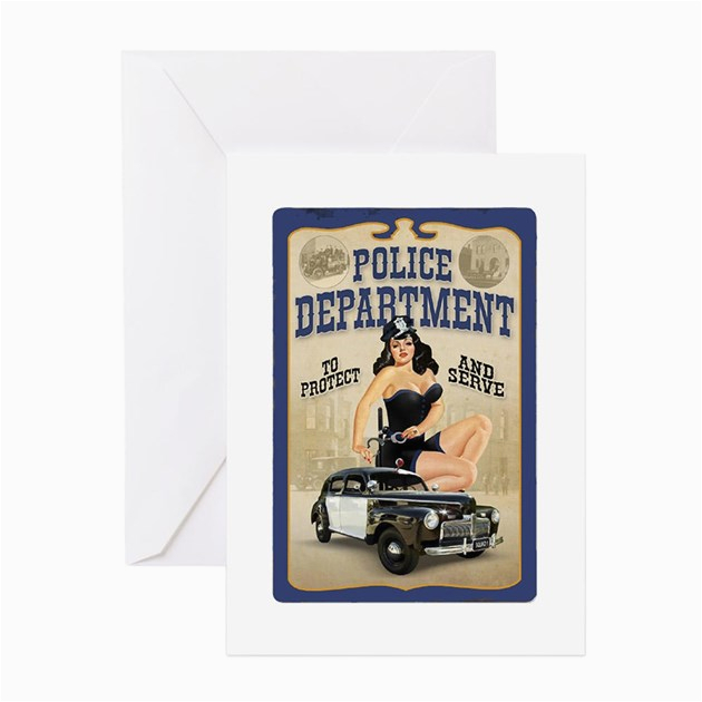 police department greeting cards pk of 10 by lawrenceshoppe