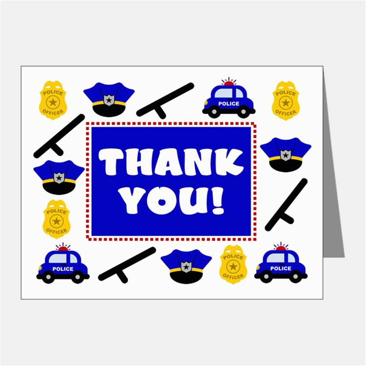 police kids stationery cards invitations greeting