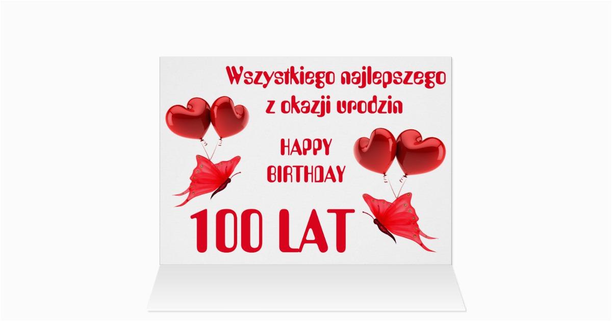 happy birthday in polish greeting card zazzle