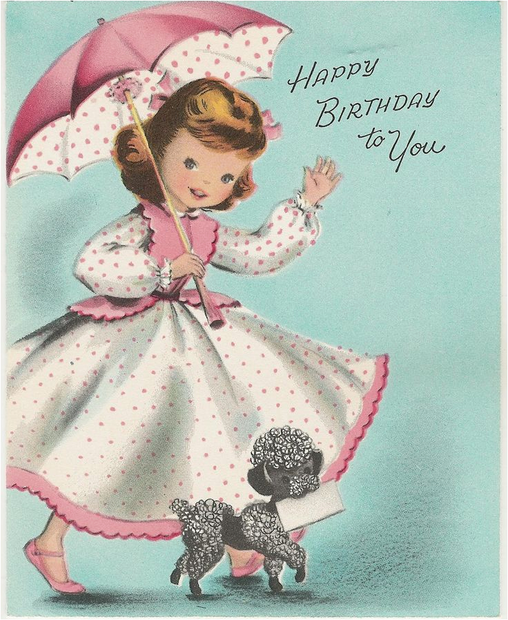 Poodle Birthday Cards Happy Birthday to You Poodles Vintage Birthday Cards