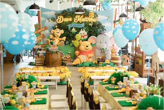 winnie pooh 1st birthday party