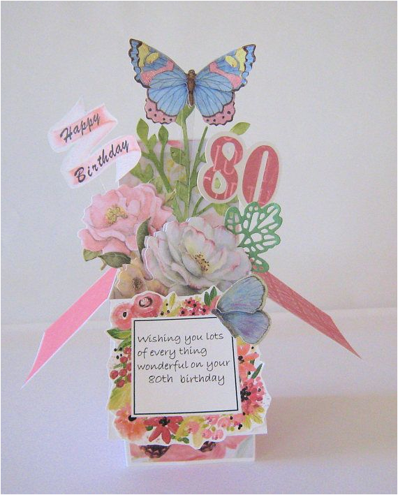 Pop Up 80th Birthday Cards