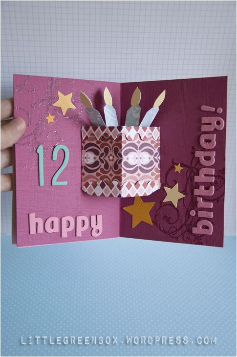 nitzan s birthday pop up card the little green box