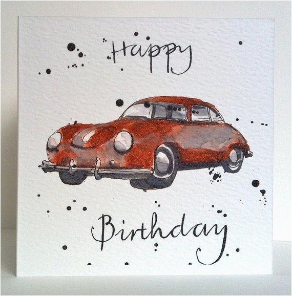 birthday card vintage 1960 porsche