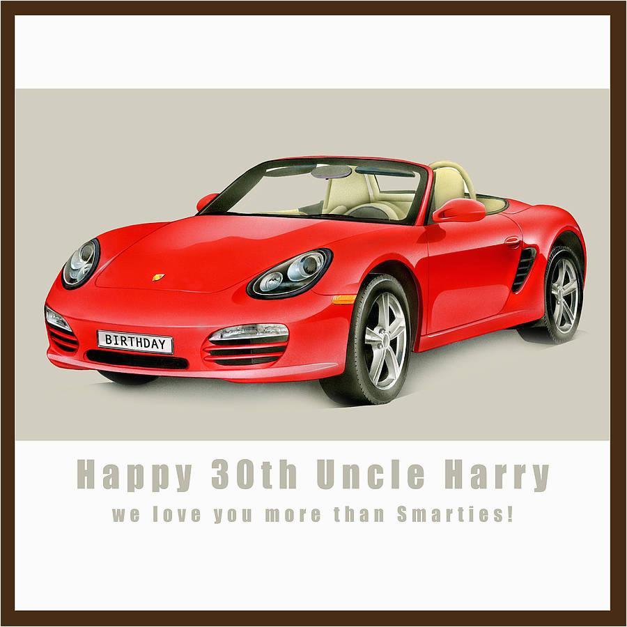 personalised porsche birthday card