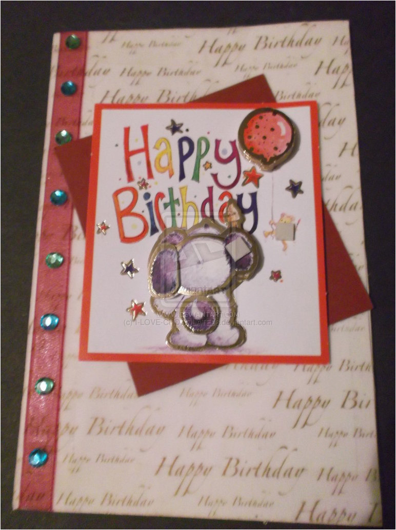 handmade birthday card 362723106