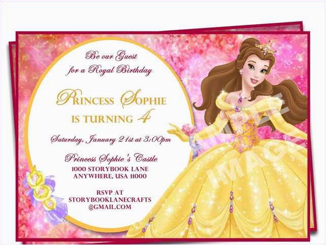 Princess 1st Birthday Invitation Wording Party