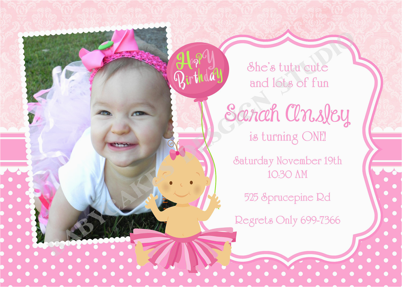 1st birthday princess invitations