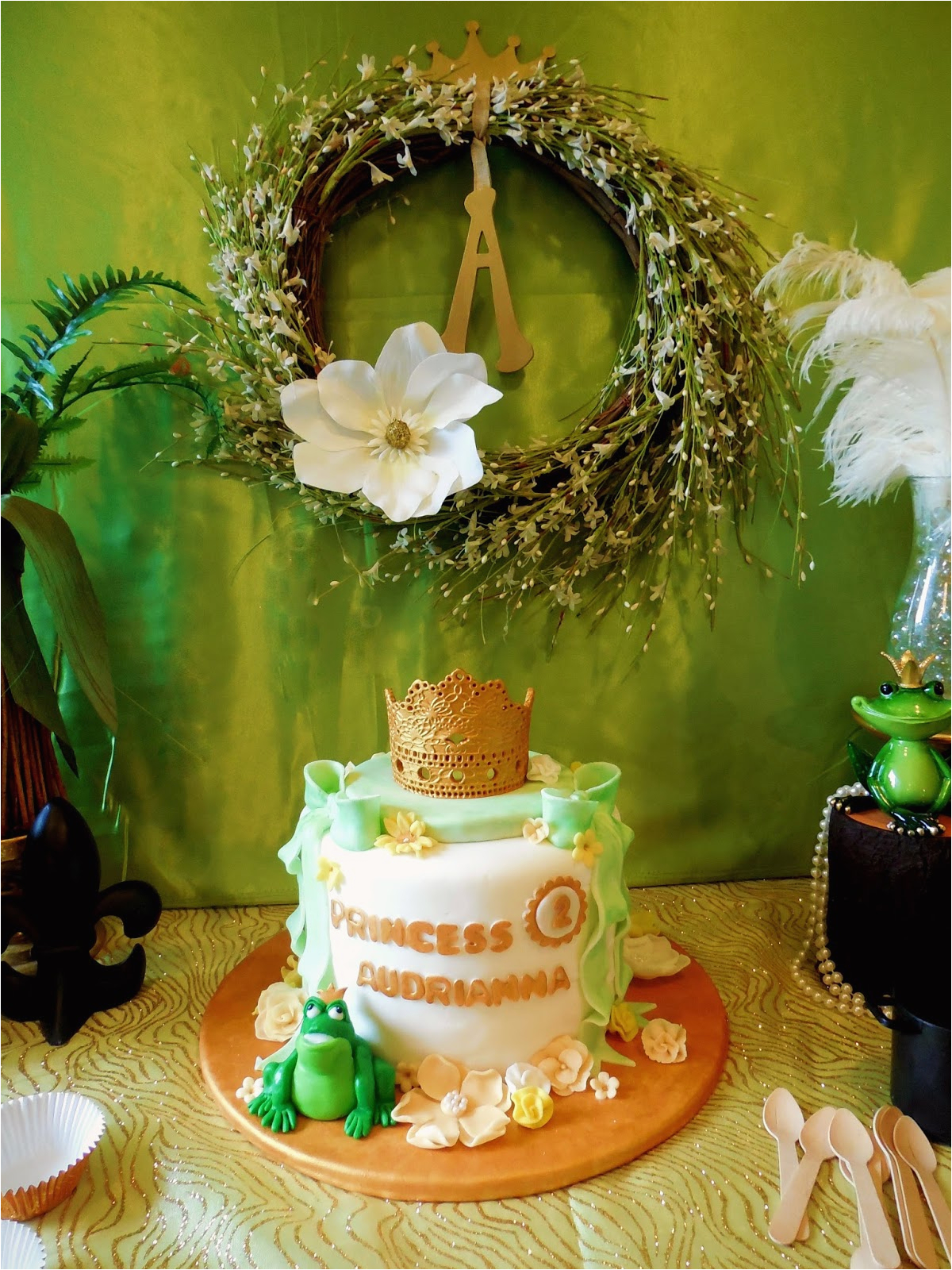 princess and frog birthday party