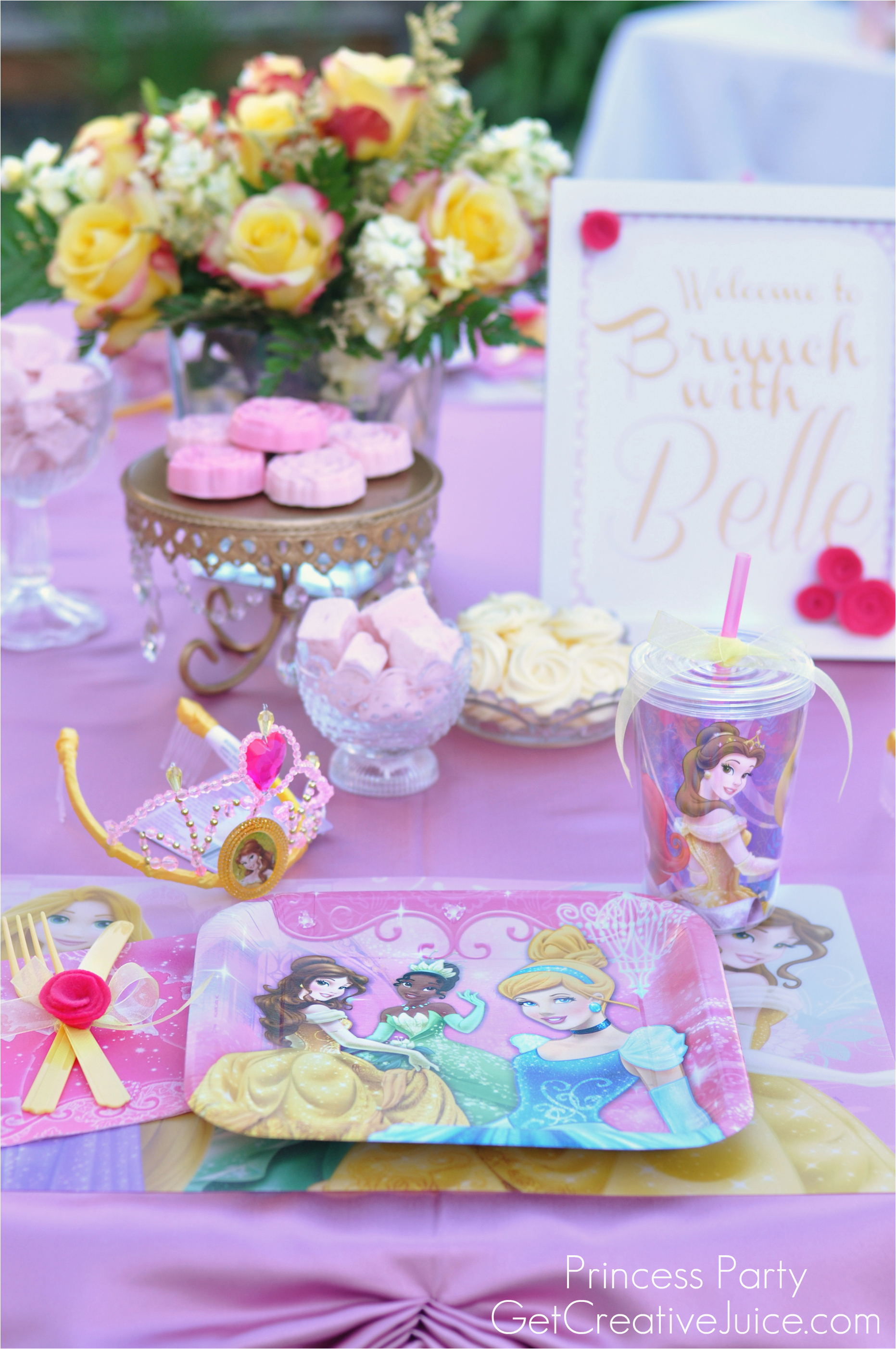 Princess Birthday Party Table Decorations Disney With Belle Part One Creative Juice