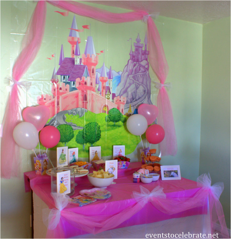 disney princess birthday party ideas food decorations