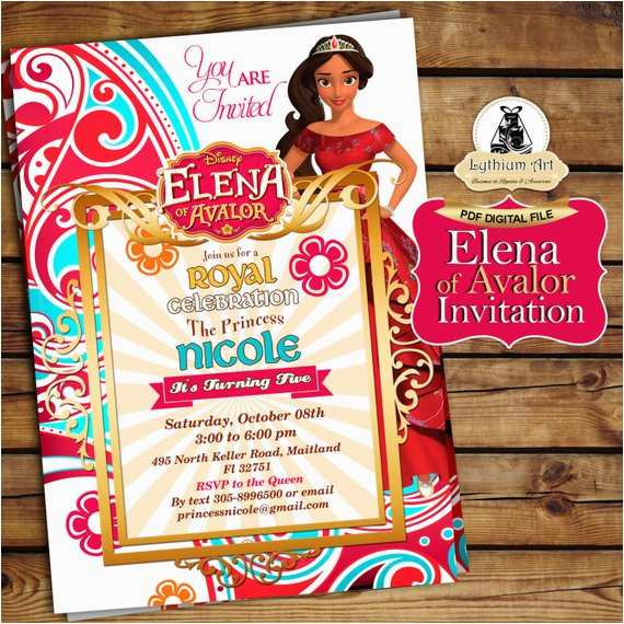 Princess Elena Birthday Invitations Of Avalor Invitation