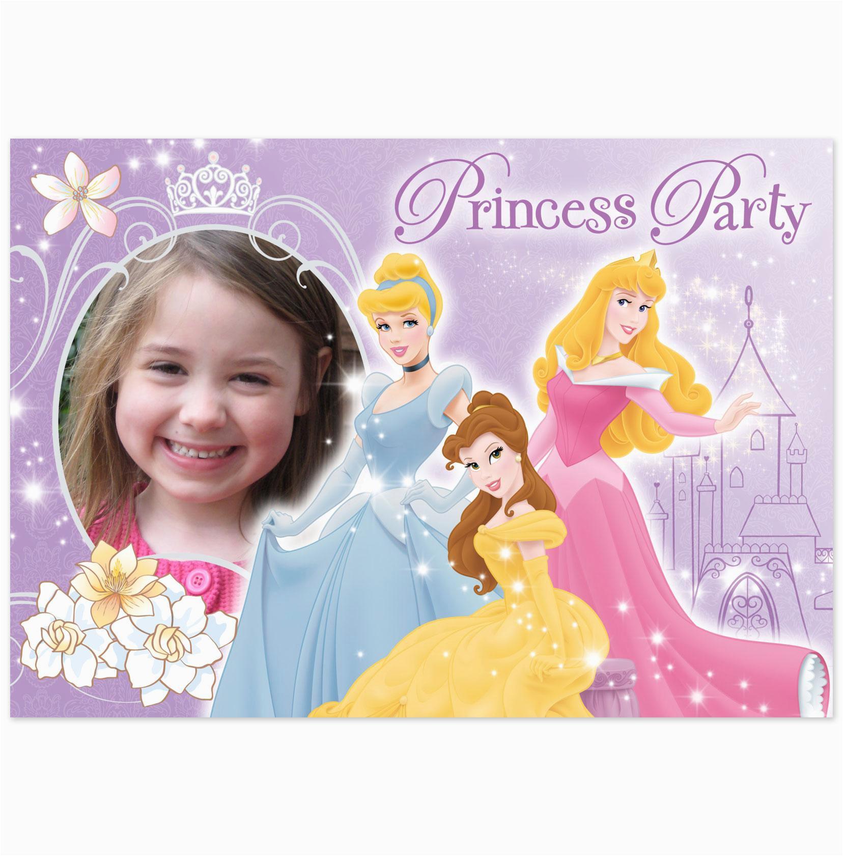 Princess Themed Birthday Invitation Cards Disney Party Invitations Cimvitation