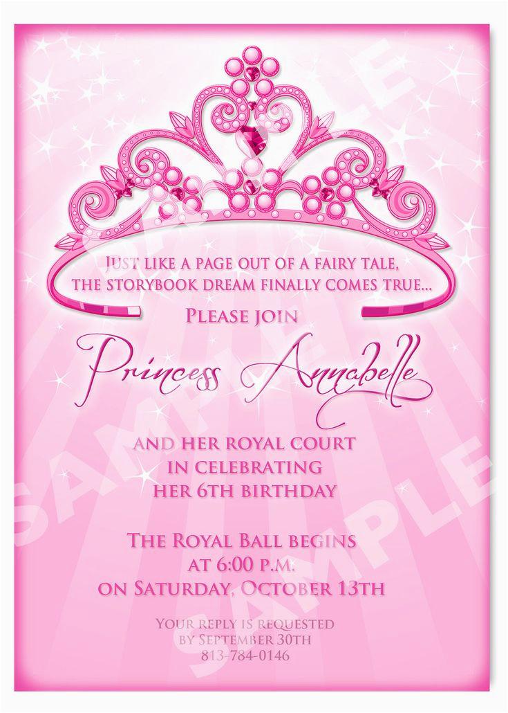 Princess Themed Birthday Invitation Cards Free Printable Templates