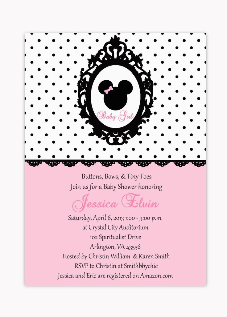 Print Birthday Invitations At Walmart 17 Best Images About Minnie Mouse Baby Shower