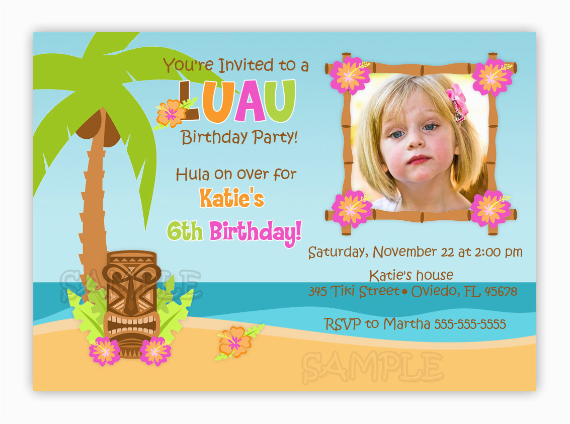 Print Birthday Invitations At Walmart Invites Luau Free Printable