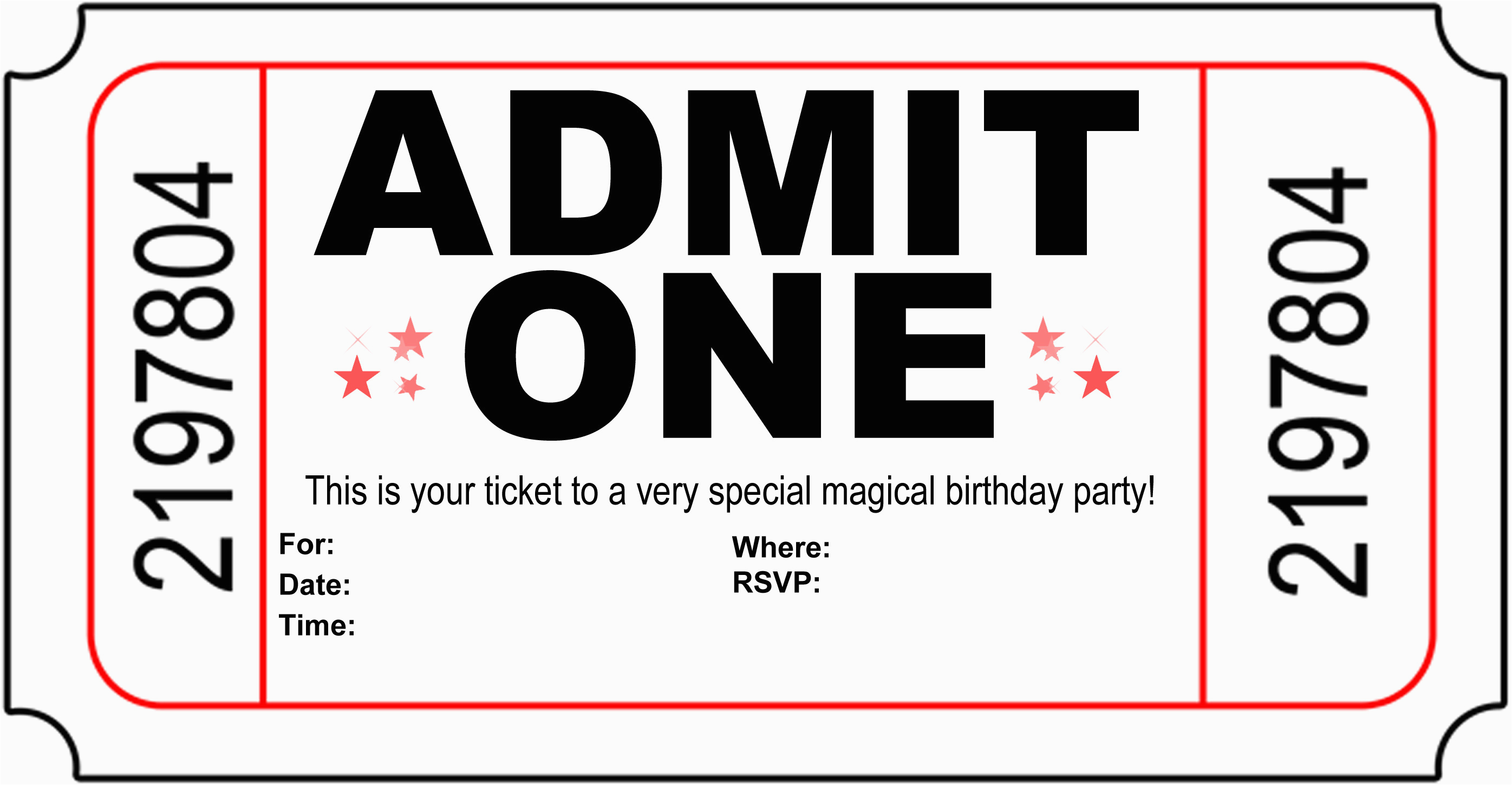 free printable birthday party invitations kansas magician
