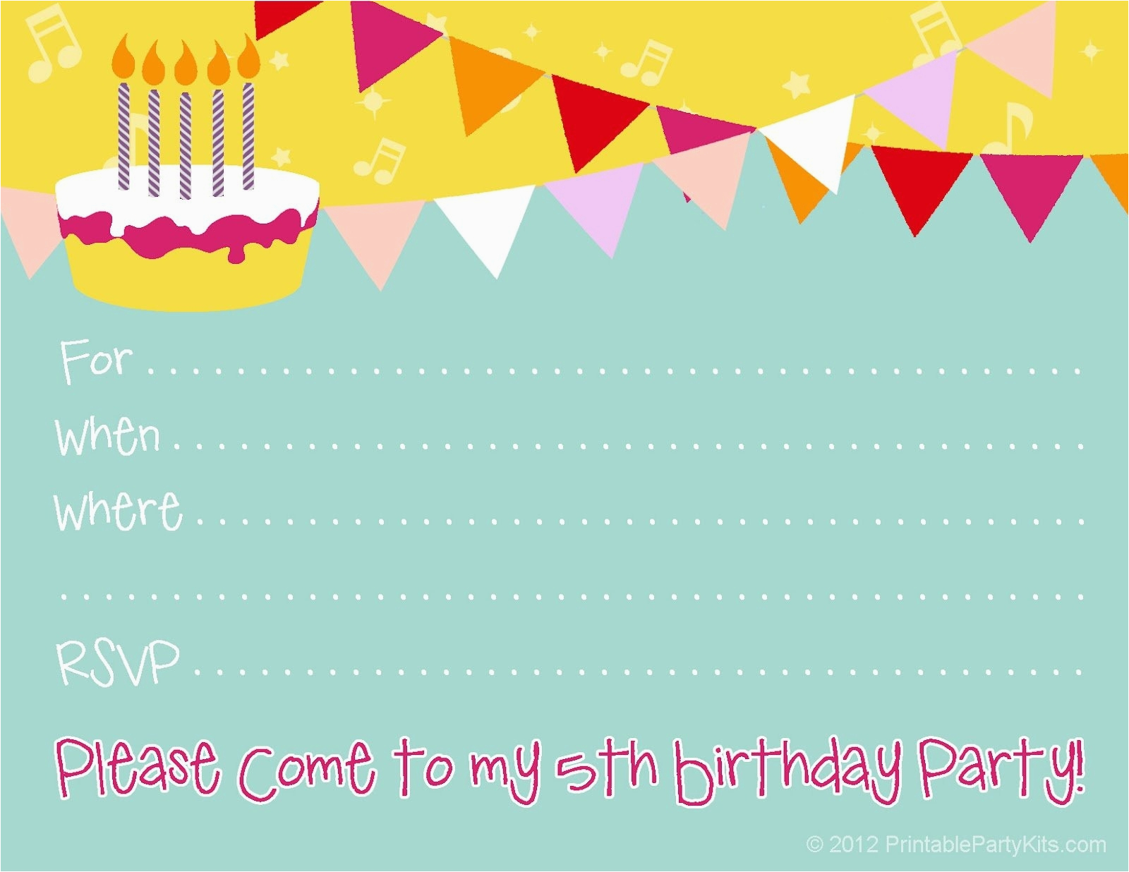 Print My Own Birthday Invitations Make Your Free Template Resume