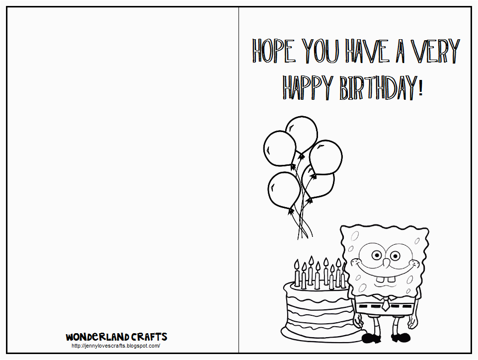 Print Off Birthday Cards Free Best Images Of Printable Folding For Kids