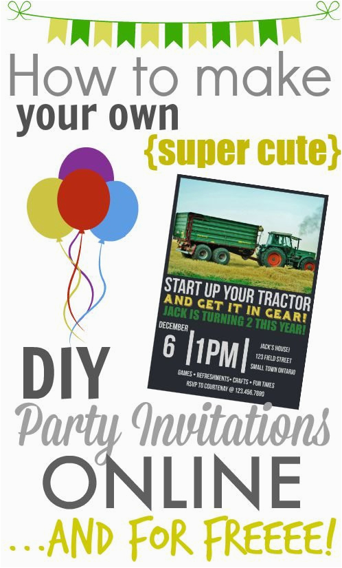 Print Your Own Birthday Invitations Free Make Diy Printable Party The Creek