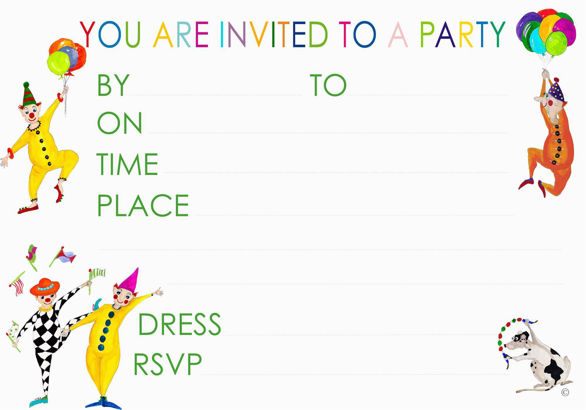 Print Your Own Birthday Invitations Free Make Party Templates