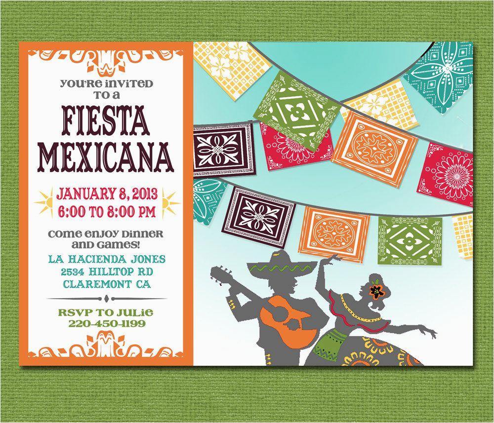 Print Yourself Birthday Invitations Print Yourself Mexican Fiesta Invitation Custom Printable