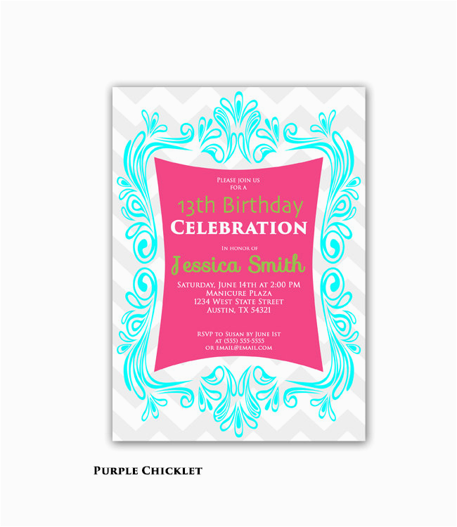 Printable 13th Birthday Invitations Best Happy