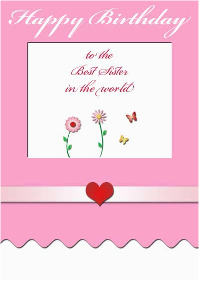 Printable Birthday Cards For Sister Online Free 5 Best Images Of