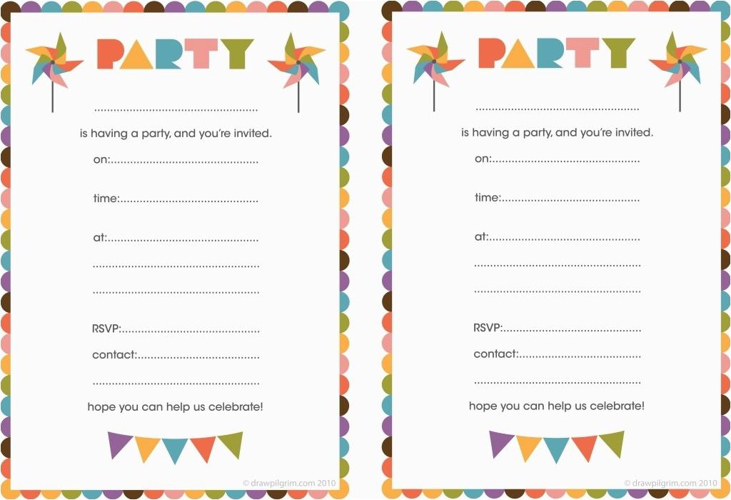 blank birthday invitations for boys