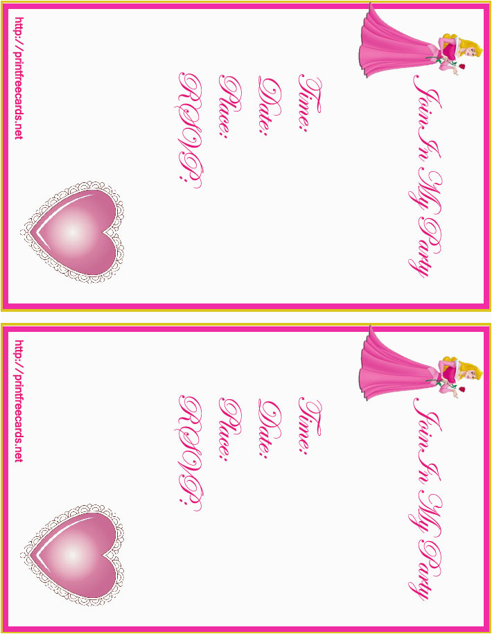 birthday invitations printable free