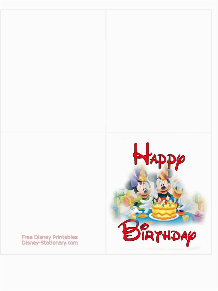 free printable disney birthday cards free clipart