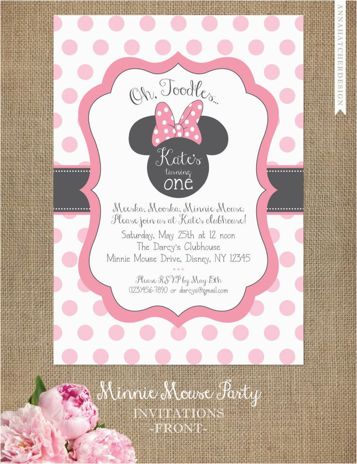 minnie mouse birthday invitation cards orderecigsjuice info