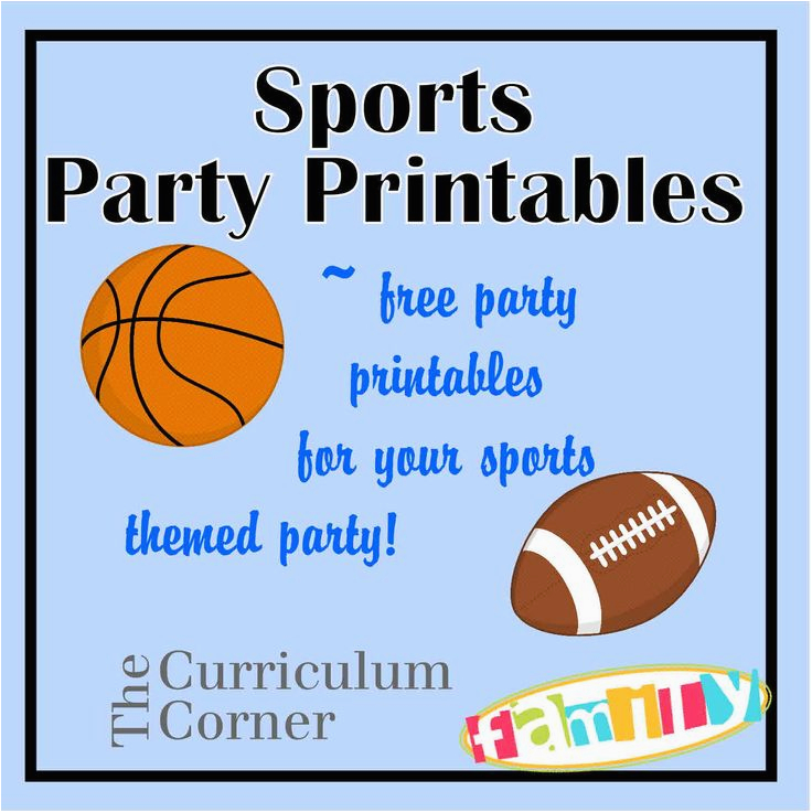 Printable Sports Birthday Cards 6 Best Images Of Party Printables Free