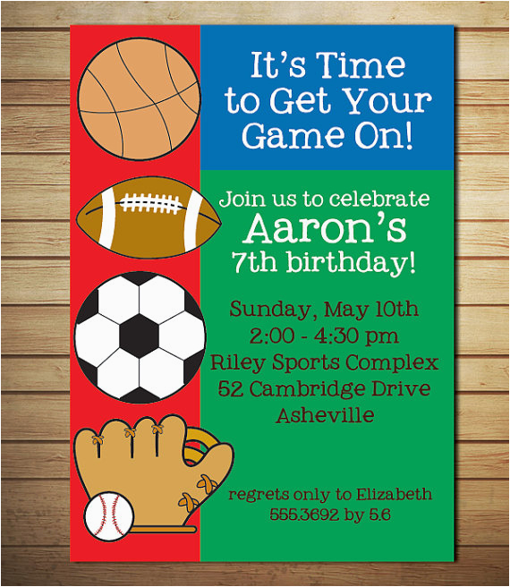 free printable sports birthday invitations free
