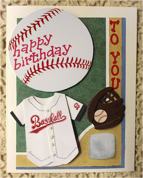 Happy Birthday To You Card Baseball Player By