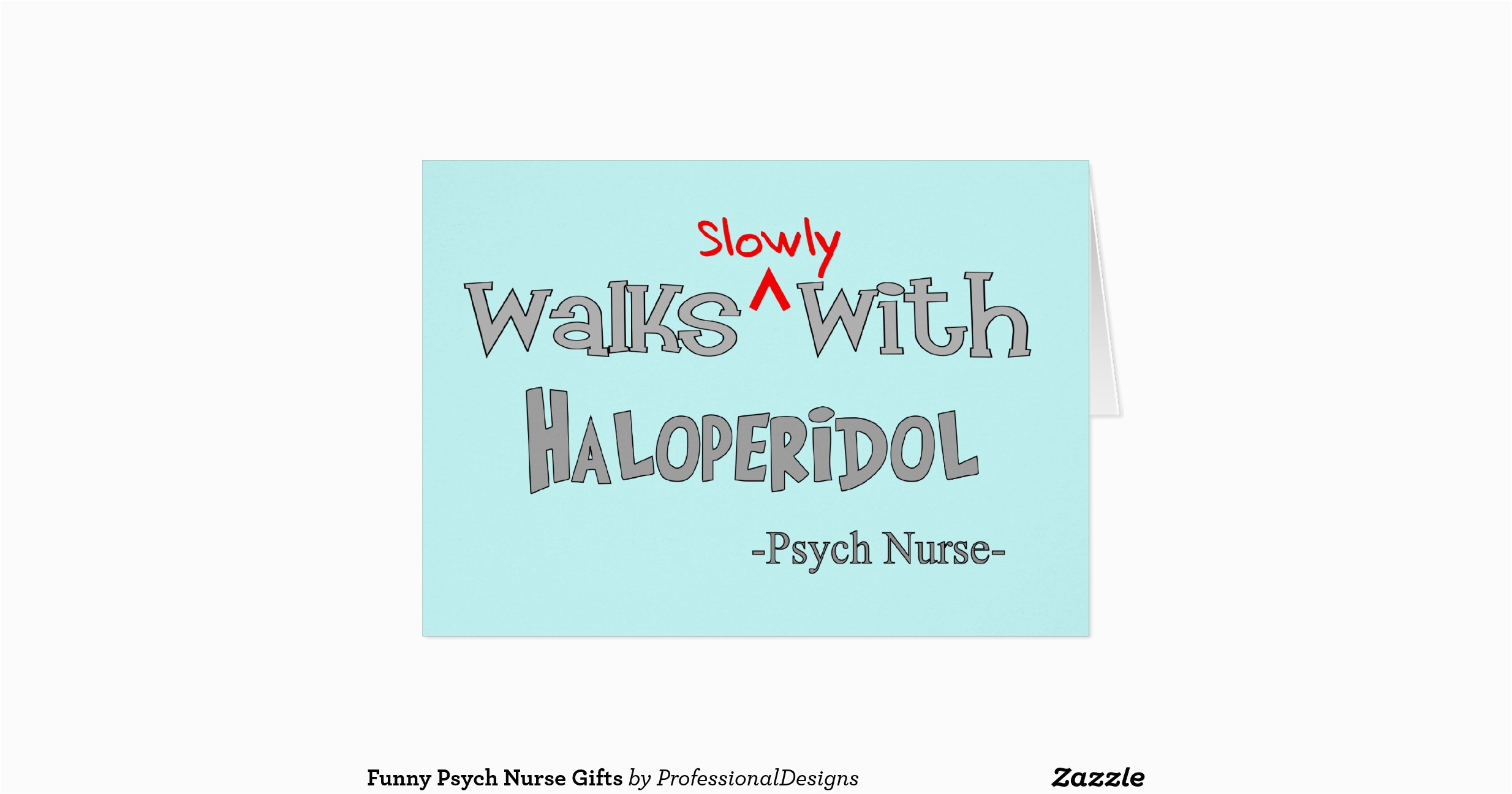 funny psych nurse gifts greeting card zazzle