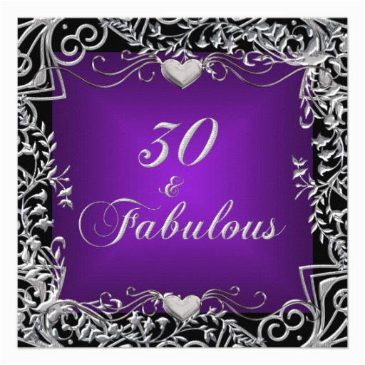 Purple 30th Birthday Decorations Party Black Silver Deep 5