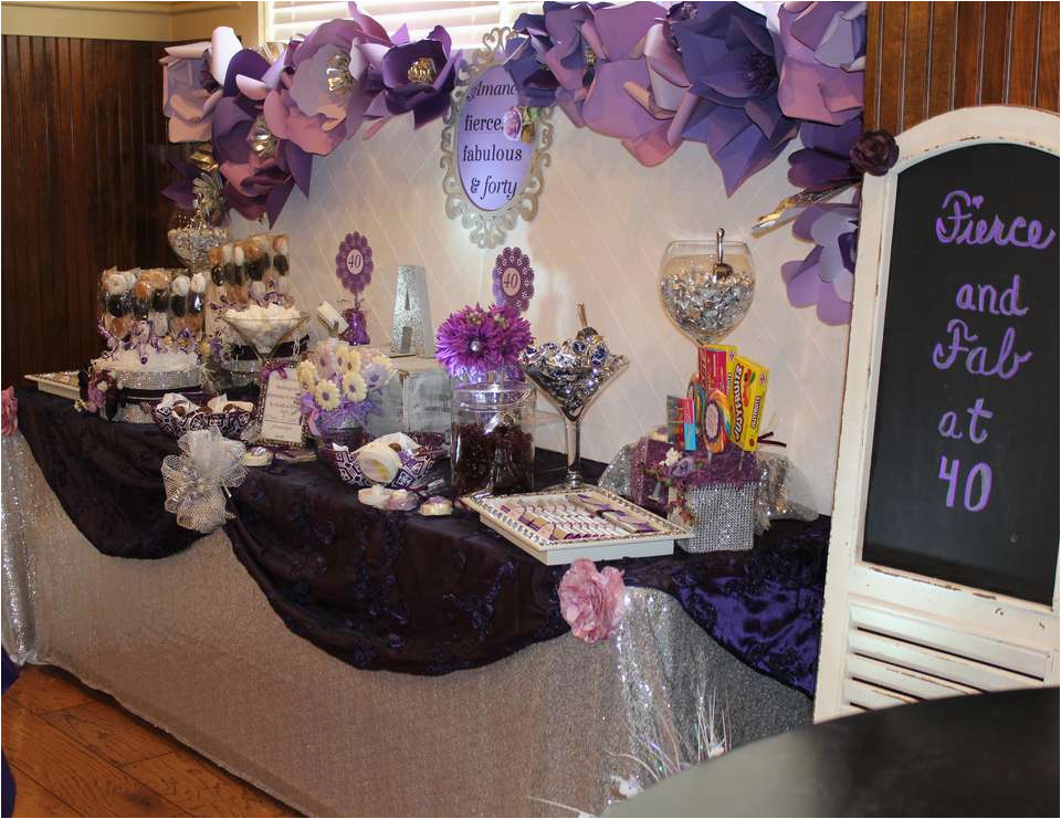 Purple 40th Birthday Decorations Glam Quot Amanda 39 S Surprise