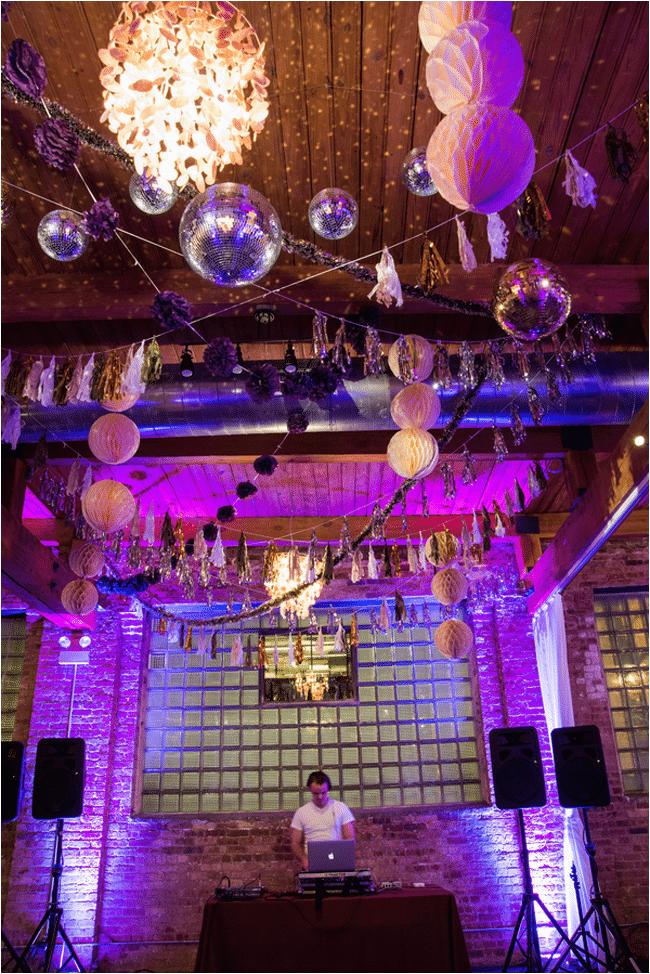 purple glam 40th birthday party