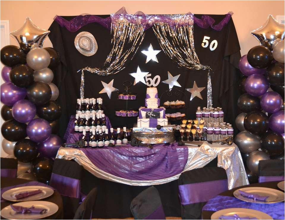 Purple 50th Birthday Decorations Quot Rain Bash Catch My Party