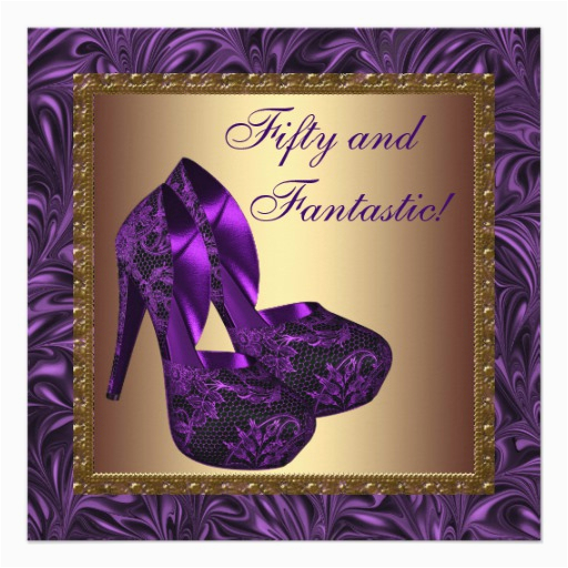 Purple 50th Birthday Decorations High Heel Shoes Womans Party 5 25x5