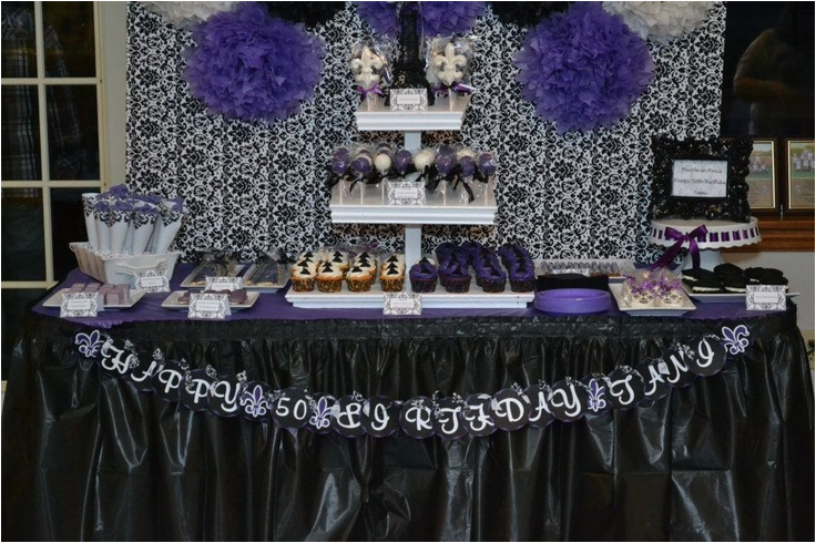 Purple 50th Birthday Decorations Tami 39 S In Paris Party Ideas