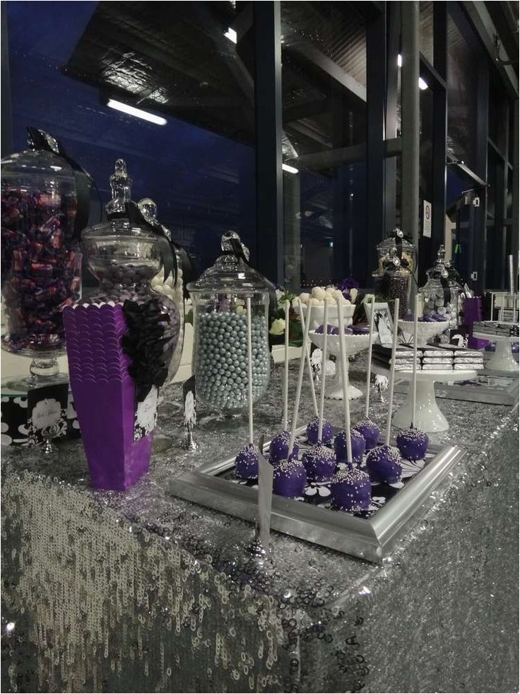 Purple And Silver Birthday Decorations Birthdaybuzz