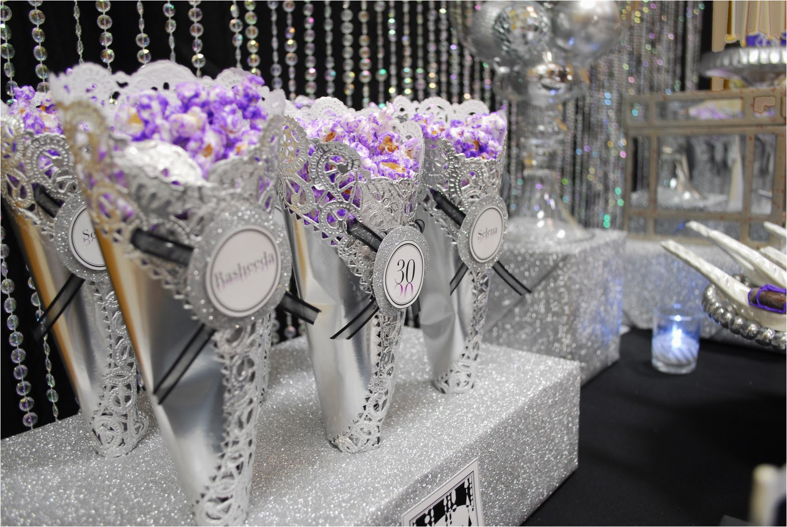 Purple and Silver Birthday Decorations the 30th Birthday Decorations Criolla Brithday Wedding