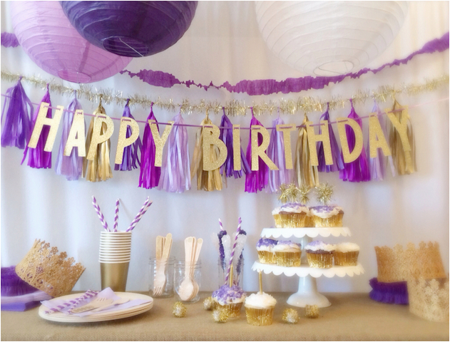 Purple and White Birthday Decorations Birthday Parties In A Box From Little Jubilee