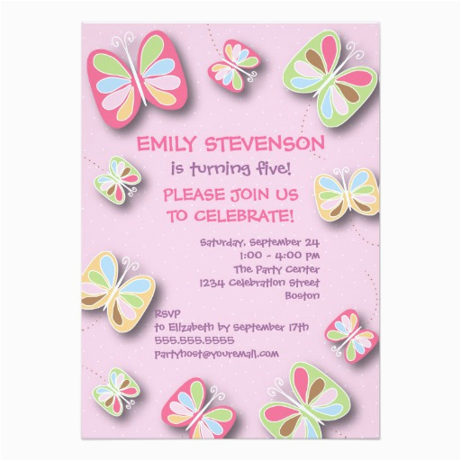 Purple Butterfly Birthday Invitations Party Invitation Pink Zazzle