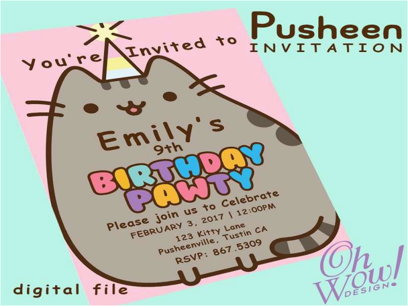 cat birthday invitations