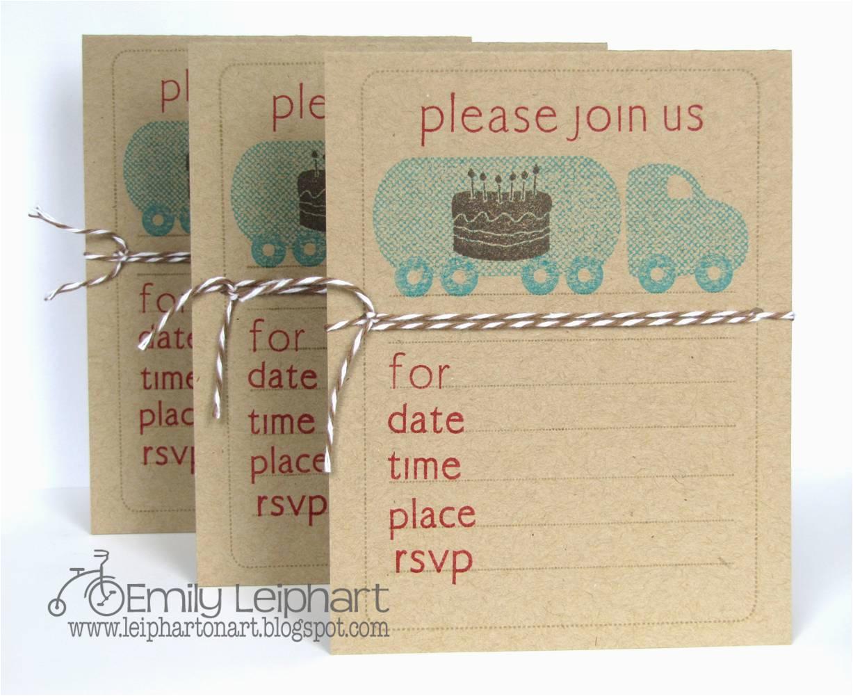quick easy birthday invitations